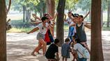 陝西渭南街頭之公園裡的人們(2)宋渭濤攝影