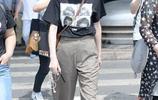 唐嫣穿垮褲也能腿長兩米八,身材好就是任性啊
