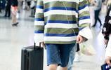 井柏然久違的機場街拍來了 直男襯衫搭配短褲,莫名有點可愛!