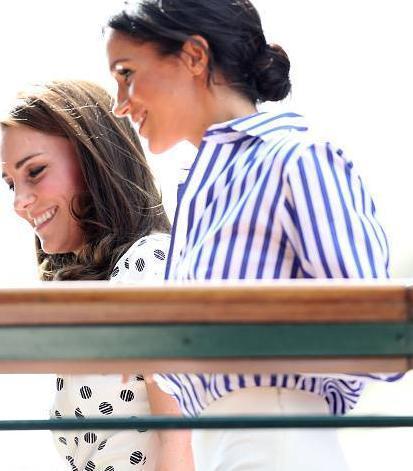 看看凱特·米德爾頓和梅根·馬克爾在一起的照片