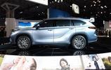 全新一代豐田漢蘭達車展實拍,尺寸加長,新推混動版本