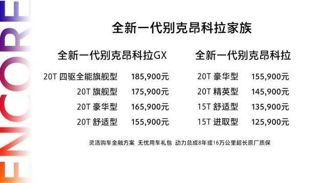 別克全新昂科拉/昂科拉GX正式上市 售12.59萬元起