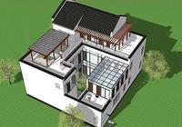 帶中庭新中式別墅,父母輩最愛實用戶型,陽光房葡萄架亮點十足