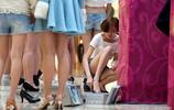 美腿如林 瀋陽一商場舉辦美腿大賽美麗凍人