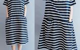 微胖女人可別買錯衣服,初秋最顯氣質最時髦的是這幾款棉麻連衣裙