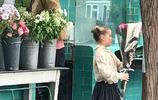 超級奶爸貝克漢姆帶著小七在倫敦買花,媽媽忙工作,爸爸陪小七