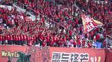 足協盃第四輪廣州恆大淘汰河南建業,賽後廣州恆大球員謝場