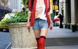 女星火拼短褲,滿眼白花花大長腿