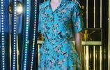 女神宋慧喬身穿復古收腰印花長裙,氣質優雅,少女感滿滿