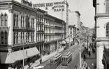 老照片再現100多年前的美國城市景象,不愧是世界大國