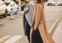 冬天裡的長款大衣最具風情