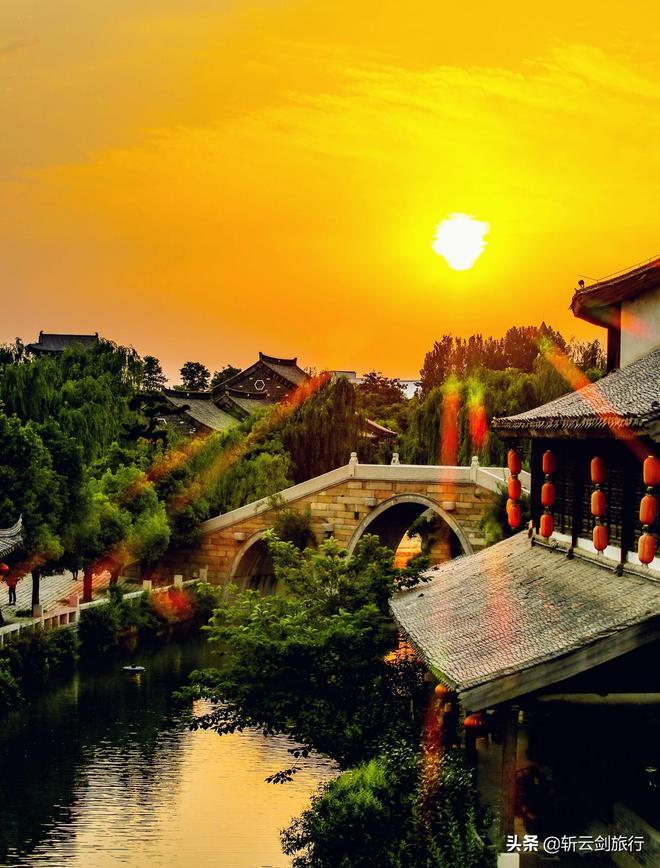臺兒莊古城的春天,每一張都是明信片