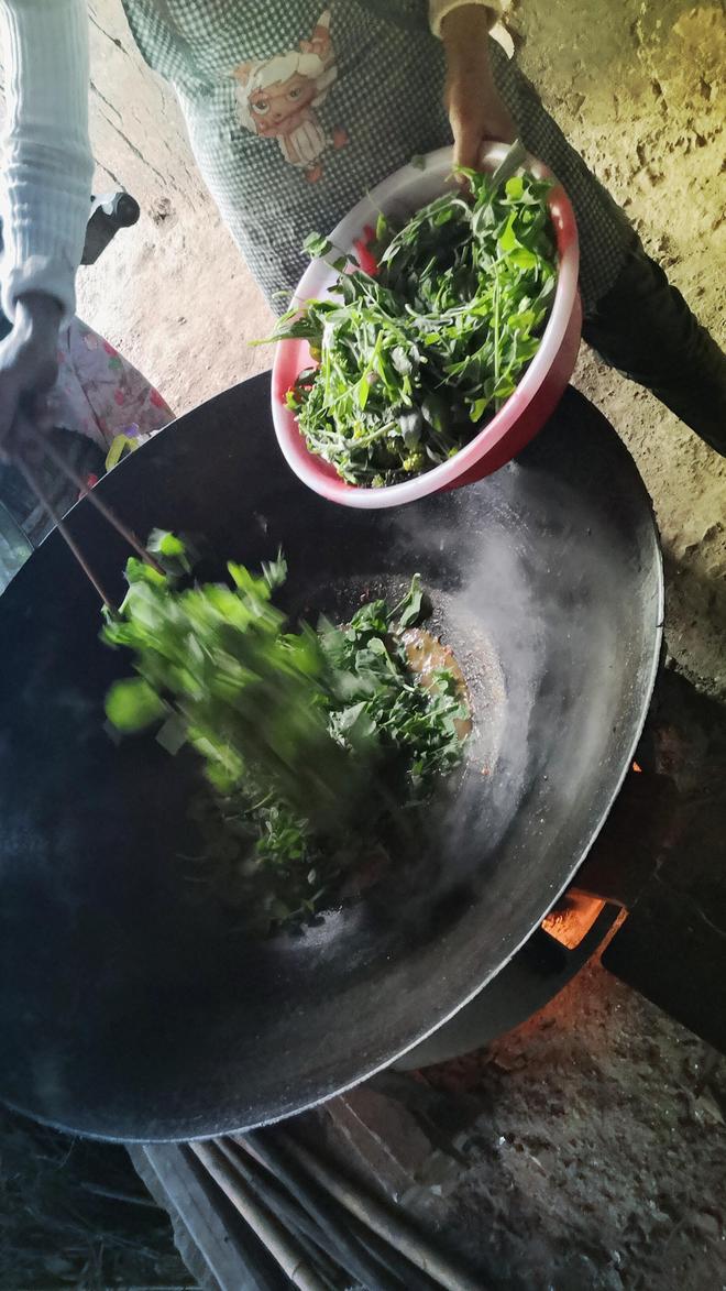 農村人家簡單的早飯