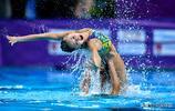 花樣游泳世界系列賽中國站 黃雪辰產後復出為觀眾表演
