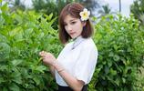 花叢中的美少女——晨晨