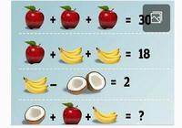 椰子加蘋果加香蕉是什麼意思?
