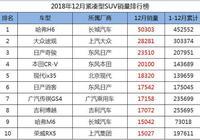12月緊湊型SUV銷量1-122名,長城一枝獨秀,現代ix35升至第五!