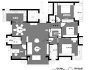 130㎡新中式風格,高級黑白灰,客廳和臥室設計真是讓人讚不絕口