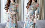 過年回家,穿一襲改良旗袍裙簡直不要太美,適合25歲以上女人