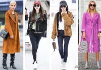 唐嫣也開始穿麂皮大衣了?內搭緊身保暖打底衫很有時尚感,很陽光