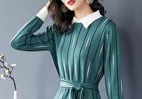 """不騙你,今年最美冬裙,叫""""灰綠色""""毛衣裙,小貴卻美的璀璨奪目"""