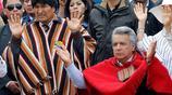 厄瓜多爾新總統莫雷諾出席土著傳統儀式 高舉雙手場面莊嚴
