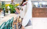 2017秋冬裝新款韓版女裝長袖白色針織衫圓領毛衣,時尚白領必備!