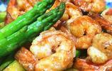 蘆筍炒蝦仁】蘆筍鮮嫩清甜,,搭配鮮蝦一起清炒 
