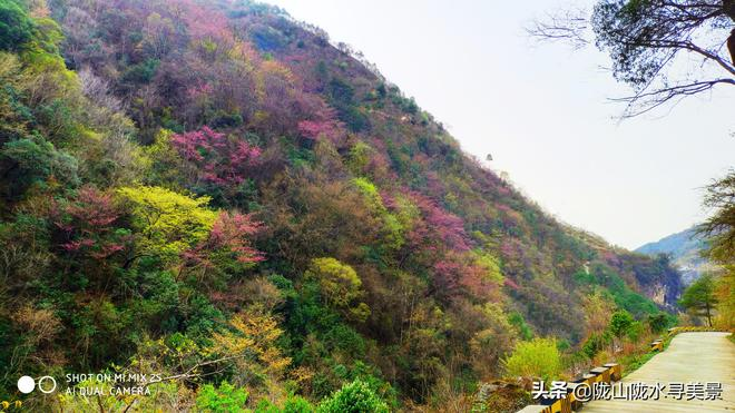 飛瀑懸天-------陝甘古道之絆水崖瀑布