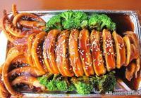 """""""魷魚""""要這樣吃,""""釀魷魚"""",糯米先炒,再卷魷魚,好吃"""