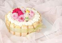 鮮花奶油生日蛋糕