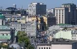 攝影:天氣晴朗拍攝莫斯科城市風景