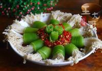 金針菇的別樣吃法,萵筍金針菇,好吃簡單,待客家宴都不錯