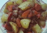 鹹肉燒土豆