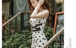 夏款V領鏤空修身顯瘦連衣裙
