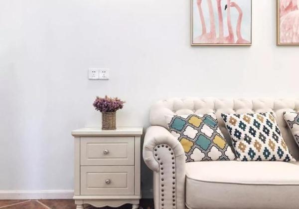 啞粉色和蒂芙尼藍打造簡約美式,超級小清新的 90平米精緻小窩