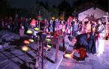 中秋天雨夜無月 陝西人造古鎮上演祭月大典