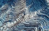 河北邯鄲市涉縣普降小到中雪,雪後的涉縣梯田美景如畫