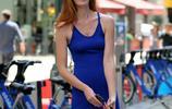 超模艾麗西那·格拉漢姆在街上展示她凹凸有致的迷人身姿!