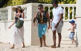 西蒙考威爾、Lauren Silverman埃裡克在巴巴多斯度假