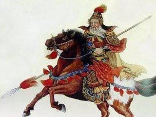 一名瘦弱老將,聽聞兒子被圍困,單人獨騎闖入萬人敵陣
