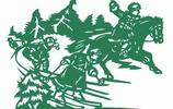 70年代的剪紙《智取威虎山》,活靈活現地表現了劇中人物