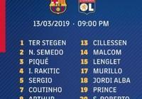 巴薩歐冠對陣里昂名單:梅西領銜,登貝萊入選