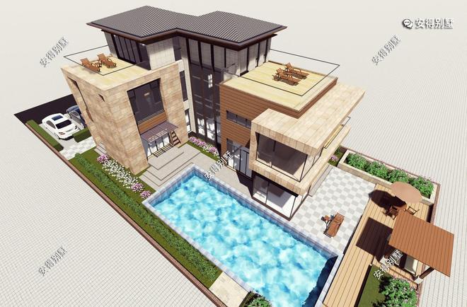 看看這2款現代風格的3層別墅,顏值高氣質好,年輕人的最愛!