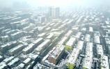 航拍:濟南好雪持續下,城市變浪漫雪國