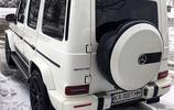 自己喜歡的白色又來了,有人提白色了嗎!全新奔馳G級越野車。