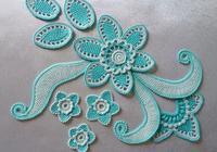 分享一組細膩精美的愛爾蘭拼花圖案,編織裙子美翻了