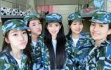 上海戲劇學院的軍訓,美女扎堆