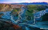 攝影師拍出震撼的天然現代抽象派藝術作品——新疆安集海大峽谷