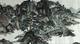 我老婆是畫家,侯豔敏小八尺山水畫作品,江山萬里圖